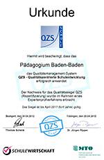 Urkunde_Guetesiegel_Paedagogium