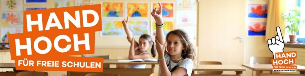 Hand hoch für freie Schulen
