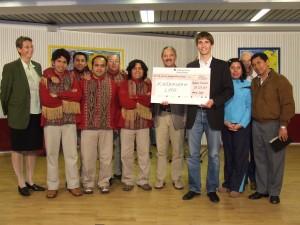 Spendenübergabe Peru-Hilfe