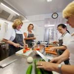 Das Küchenteam bei der Arbeit