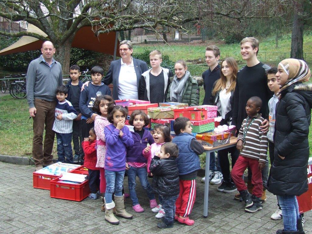 Internat Spendenaktion Flüchtlinge